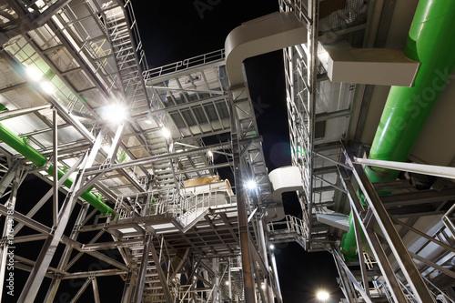 Staande foto Industrial geb. Industrial installations at night