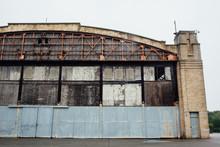 An Abandoned Air Plane Hangar.