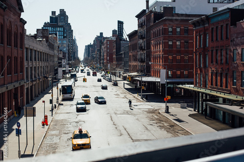 Street view of New York Poster