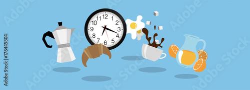 Obraz icone, colazione, mattina, moka - fototapety do salonu