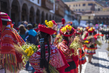 festivities in cusco, Peru.