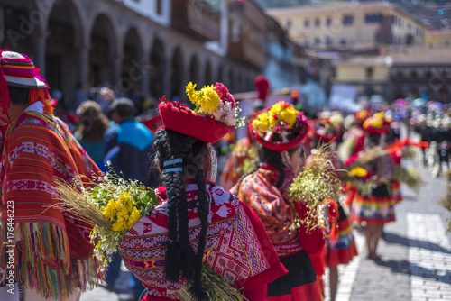 Cuadros en Lienzo  festivities in cusco, Peru.