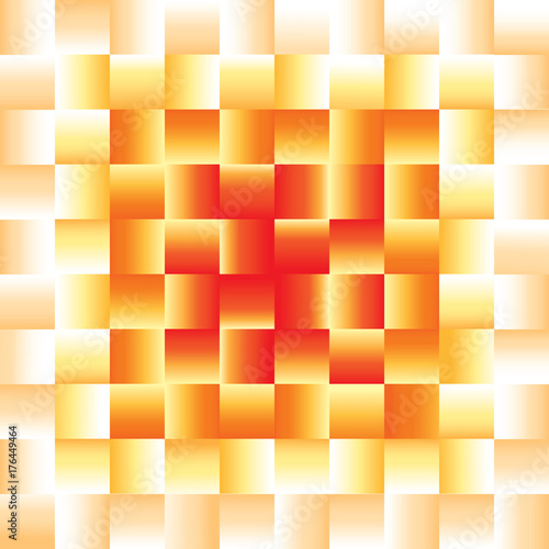 Weave Pattern With Tones Of Orange Colors