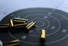 Bullets On Paper Target For Sh...