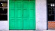Leinwanddruck Bild - Green Vintage Door