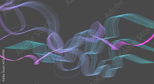 Fototapeta Streszczenie kolorowe tło z fali
