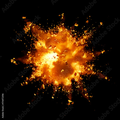 fire explosion Fotobehang