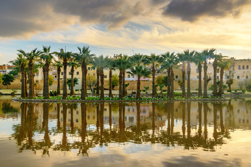 Fototapeta na wymiar Jardin Jnan Sbil, Royal Garden in Fes. Morroco