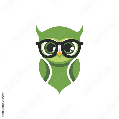Photo Stands owl with glasses