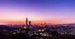 beautiful taipei 101 sunset timelapse in the Mt. Tiger Peak Taiwan city skyline