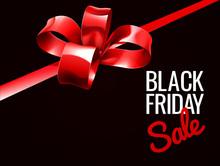 Black Friday Sale Gift Bow Design