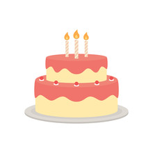 Birthday Cake Vector Isolated ...