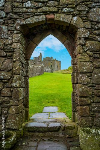 Fotobehang Noord Europa Interior sight in Dunnottar Castle, near Stonehaven, Scotland.