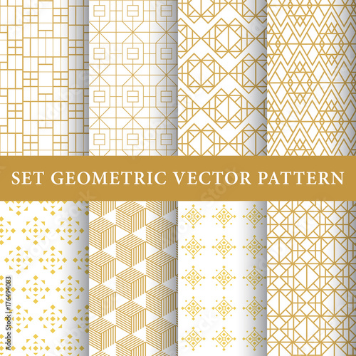 Türaufkleber Künstlich Golden vintage luxury vector patterns pack