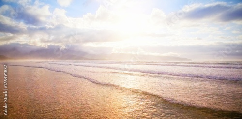 Scenic view of seascape during sunset