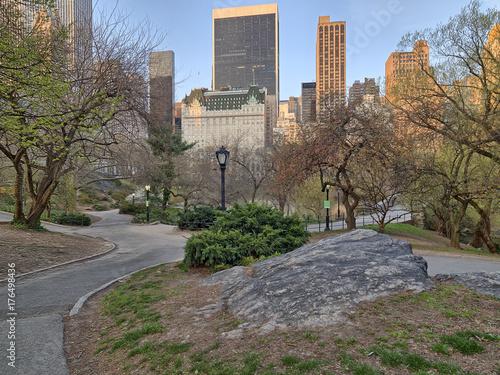Obraz na dibondzie (fotoboard) Central Park, wiosna w Nowym Jorku