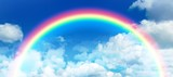 Fototapeta Rainbow - Composite image of composite image of rainbow