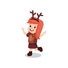 Sweet Redhead Little Girl In T...