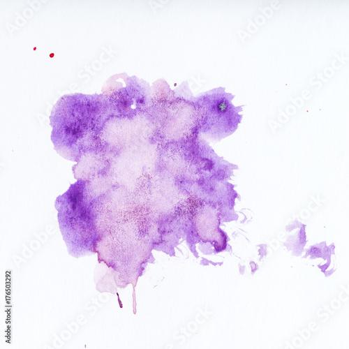 Purple paint splatter  Paint splash on white background