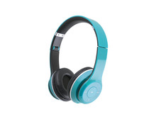 Blue Headphones Isolated On A ...