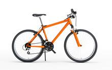 Side View Of Orange Sport Bike...