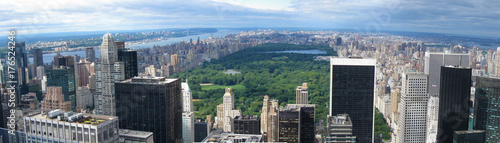Fotografía Aerial panorama of New York City and Central Park.