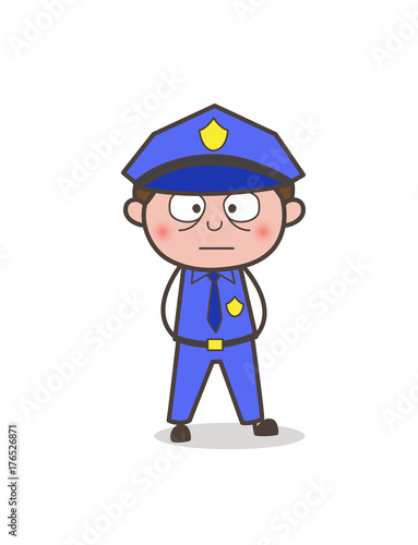 cartoon security guard flushed face buy this stock vector and