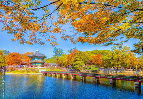 Obraz na dibondzie (fotoboard) Pałac cesarza (The Gyeongbokgung Palace) w Seulu. Korea Południowa.