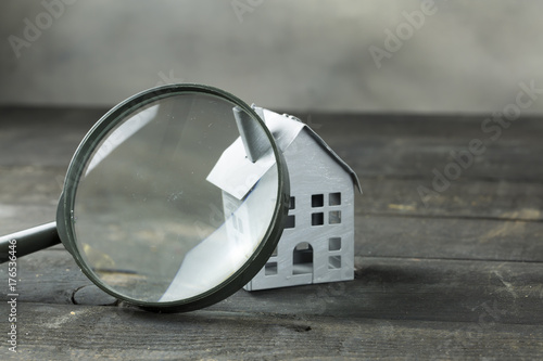 House with Magnifying Glass Wallpaper Mural