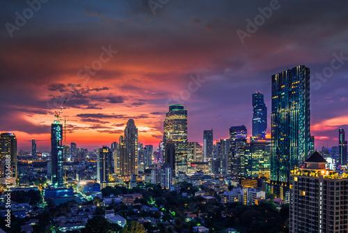 Cadres-photo bureau Bangkok Modern building increasing number in Bangkok