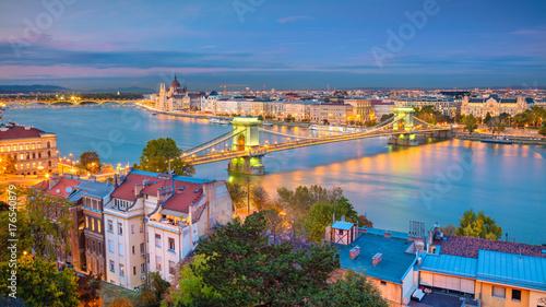 Budapest. Panoramic cityscape image of Budapest, capital city of Hungary, during sunset.