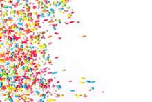 Colorful Candy Sprinkles Isola...