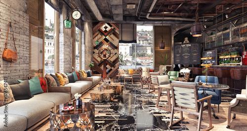 Fotobehang Restaurant Concept design of modern Restaurant lounge bar