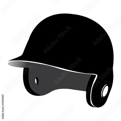 Photo  Isolated baseball helmet on a white background, Vector illustration