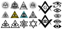All Seeing Eye. Illuminati Sym...