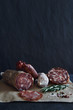 Charcuterie cured meat selection