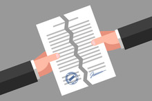 Torn Document. Cancellation Of Contract Or Agreement