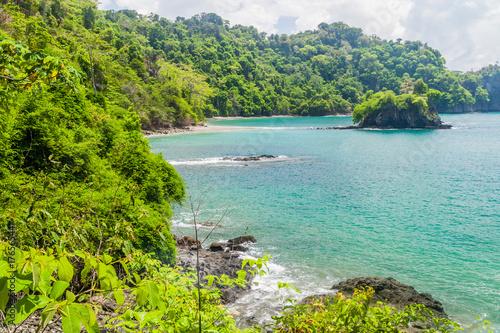 Ocean coast in National Park Manuel Antonio, Costa Rica Canvas Print