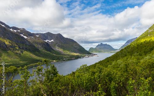 Spoed Foto op Canvas Eiland Beautiful landscpae panorama from Gryllefjord Senja, Norway.