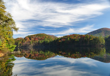 Mountain Lake In The Fall