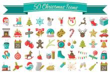Weihnachten Icons Symbole Vekt...