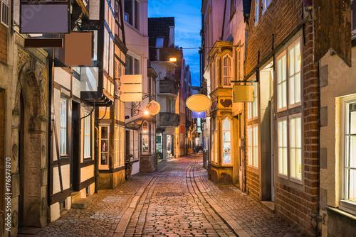 Historisches Schnoor Viertel in Bremen, Deutschland