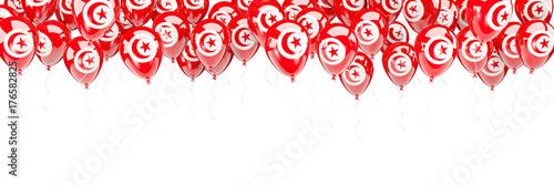 Fotografía Balloons frame with flag of tunisia