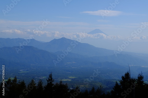 Aluminium Prints 雲海に浮かぶ富士山と茅ヶ岳の眺め
