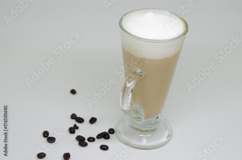 Wall Murals Chocolate Coffee latte in a tall glass