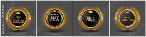 vector vintage badges collection Best choice, Premium quality, Bestseller, Wallpaper Mural