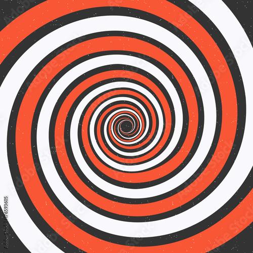 Plakat Spiralne tło. Złudzenie optyczne. Ilustracji wektorowych