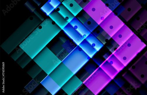 Fototapeta Color arrows on black background