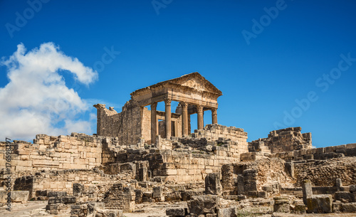 Poster Ruine The Roman Capitol. Ruin. Tunisia, Dougga.