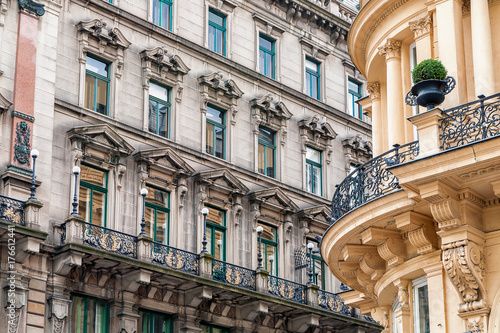 Obraz na dibondzie (fotoboard) Fasady zabytkowych budynków w Wiedniu
